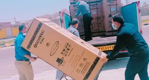 توزیع ۱۴۴دستگاه یخچال بین مددجویان تحت حمایت کمیته امداد  بخش بوشکان  + تصاویر