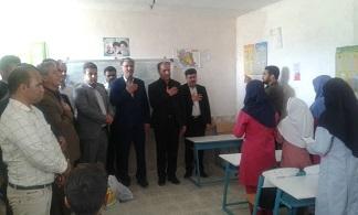 بازدید فرماندار دشتستان از دبستان عشایری تنگ خون بوشکان